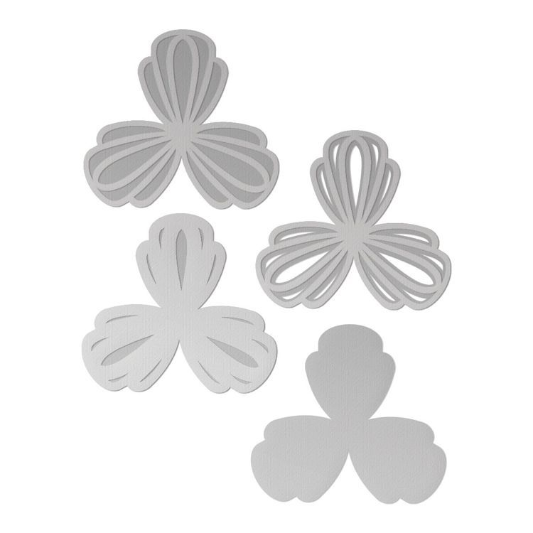 Layered Trilliums Cutting Die Set (3pc)