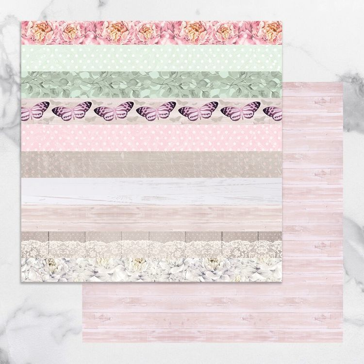 Peaceful Peonies Double Sided Patterned Papers 11 (5pc)