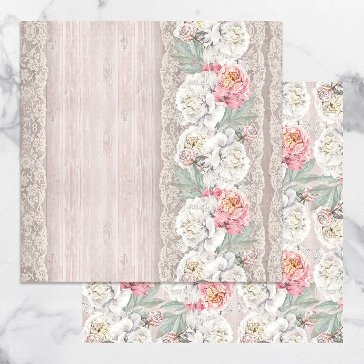 Peaceful Peonies Double Sided Patterned Papers 9 (5pc)