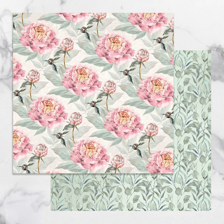 Peaceful Peonies Double Sided Patterned Papers 6 (5pc)