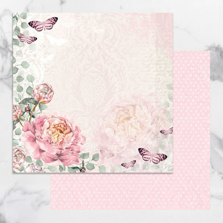 Peaceful Peonies Double Sided Patterned Papers 1 (5pc)
