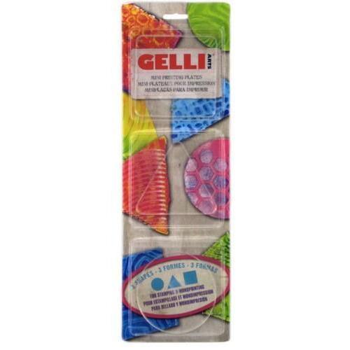 Gelli Arts - Gel Printing Plate set rond vierkant,driehoek GELRST