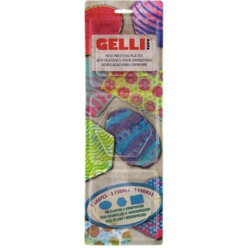 Gelli Arts - Gel Printing Plate set ovaal,hexagon,Rectangle GELOHR