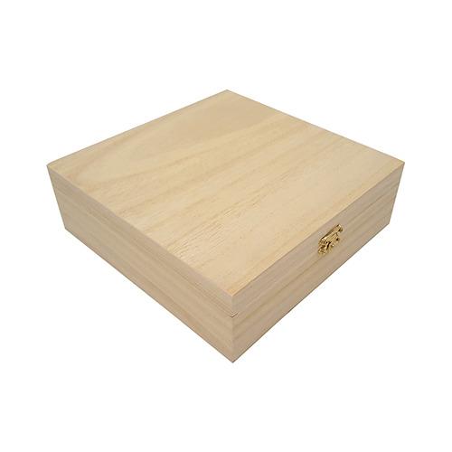 Kist vierkant leeg met klepdeksel