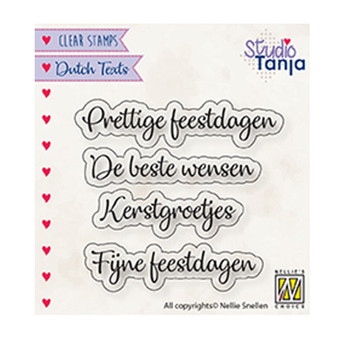 Dutch texts, Prettige Feestdagen etc..