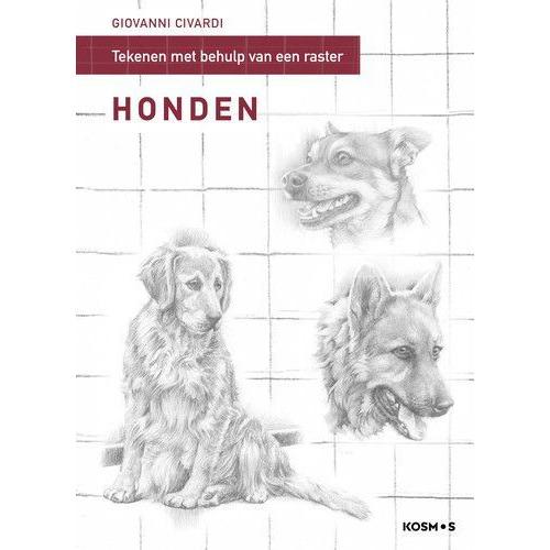 Kosmos Boek - Stap model tekenen mbv rasterlijnen - honden Giovanni Civardi (02-20)