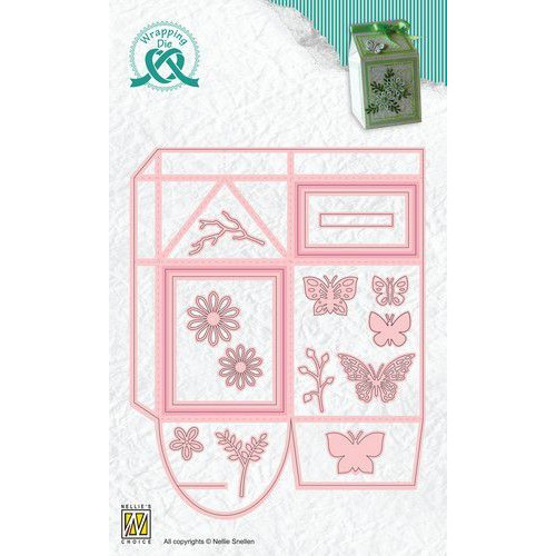 Nellie's Choice Wrapping Die gift box - 11 Melkpak WPD011 55x65x100 mm (01-20)