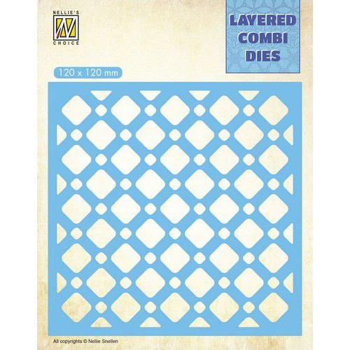 Nellie's Choice Layered Combi Die ruiten (Layer B) LCDSQ002 120x120mm (01-20)