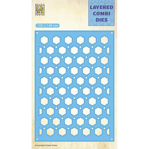 Nellie's Choice Layered Combi Die honingraat (Layer B) LCDH005 105x148mm (01-20)