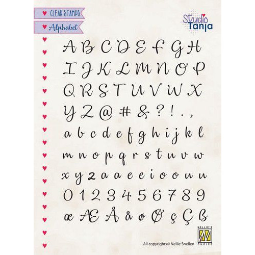 Nellies Choice Clearstempel -  alfabet Lena-2 ALCS003 A5 (01-20)