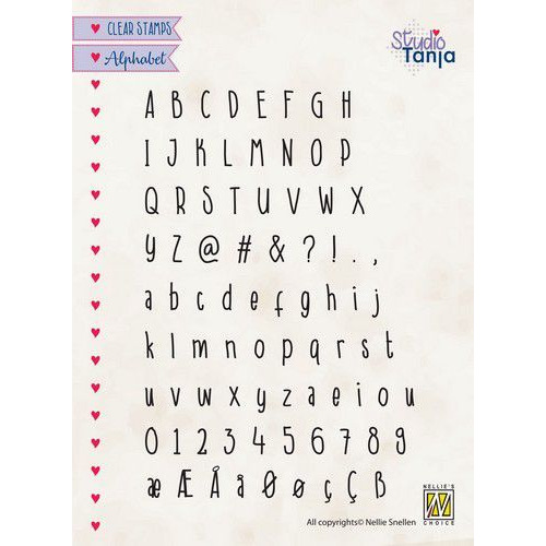 Nellies Choice Clearstempel -  alfabet Javi ALCS003 A5 (01-20)