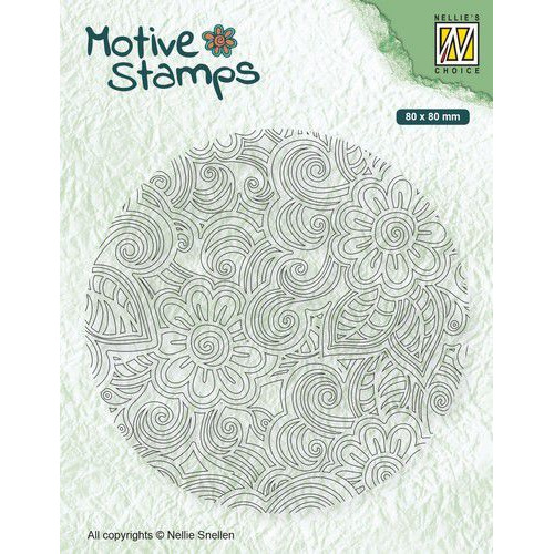 Nellie's Choice Clearstamp - Texture Flower Power TXCS012 80x80mm (01-20)