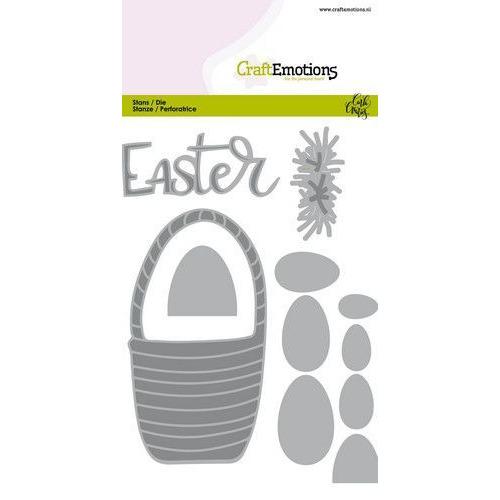 CraftEmotions Die - Easter - paasmandmet eieren Card 10,5x14,8cm Carla Creaties (01-20)