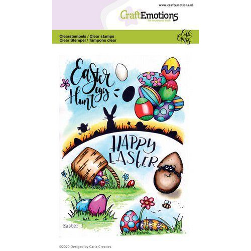 CraftEmotions clearstamps A6 - Easter 1 Carla Creaties (01-20)