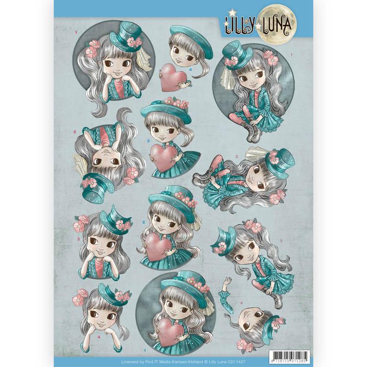 3D Knipvel - Lilly Luna - Stijlvol en fantastisch