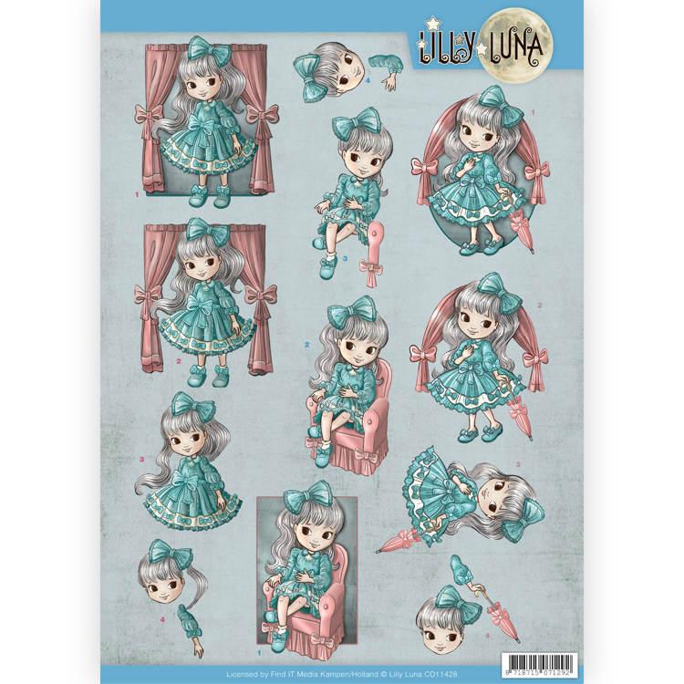 3D Knipvel - Lilly Luna - Mooie strikken
