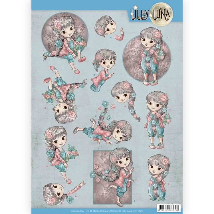 3D Knipvel - Lilly Luna - Bloemen om lief te hebben