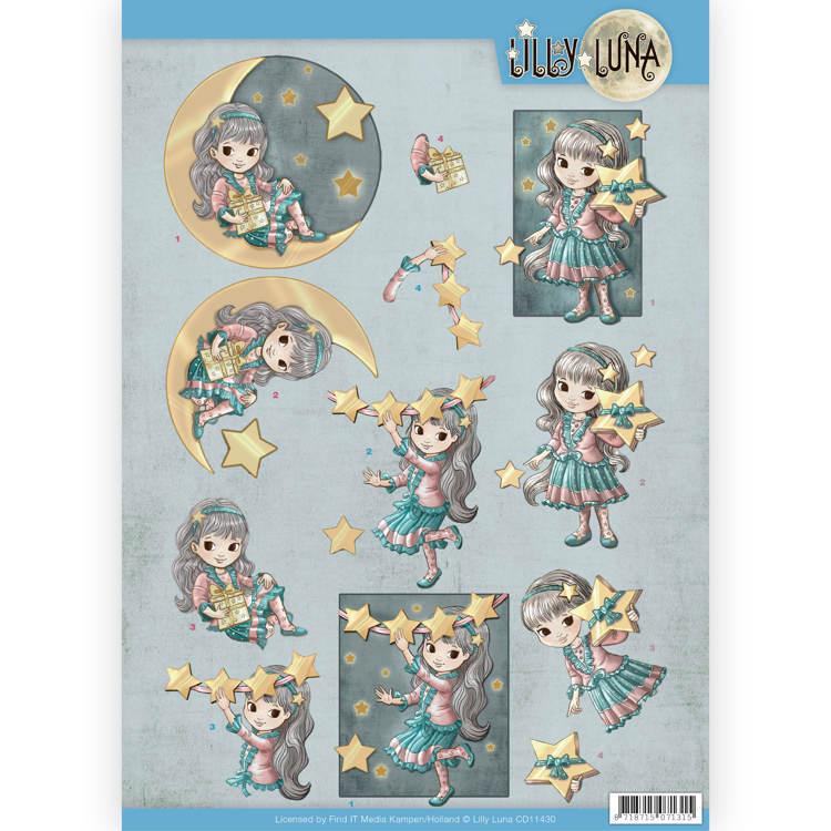 3D Knipvel - Lilly Luna - Straal als een ster