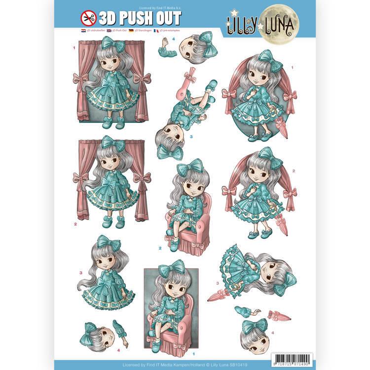 3D uitdrukvel - Lilly Luna - Mooie strikken