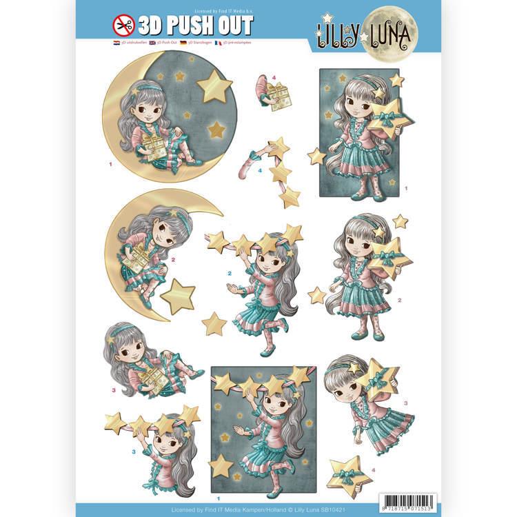 3D uitdrukvel - Lilly Luna - Straal als een ster