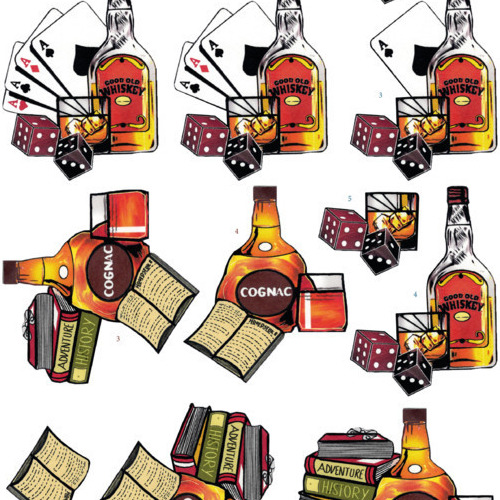 3D Knipvel - Yvon's Art - Cognac and Whiskey