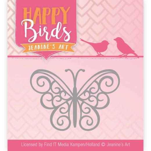 Dies - Jeanine's Art - Happy Birds - Vrolijke vlinder