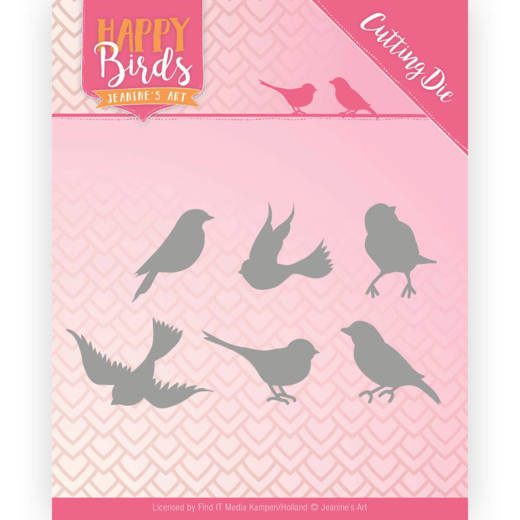 Snijmal - Jeanine's Art - Happy Birds - Vroljke vogels