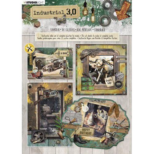 Studio Light Stansblok A4 12 vel Industrial 3.0 nr.89 STANSBLOKSL89 (02-20)