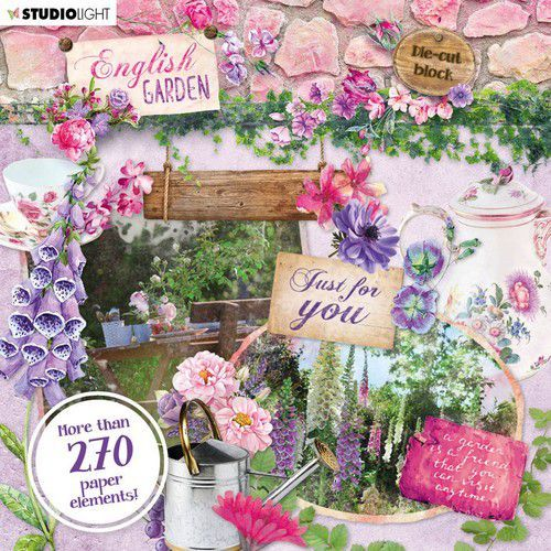Studio Light Die Cut Book 15x15 English Garden nr.659 EASYEG659 (01-20)