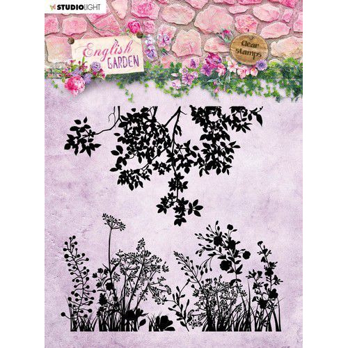 Studio Light stempel 14 x14 Background English Garden nr.435 STAMPEG435 (01-20)
