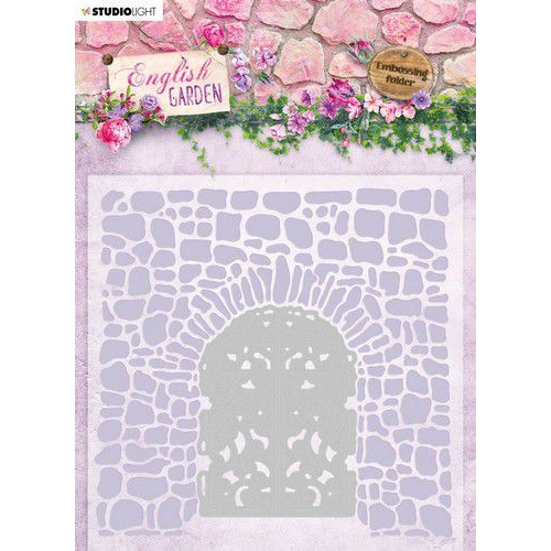 Studio Light Embossing Folder With Die Cut English Garden nr.03 EMBEG03 (01-20)
