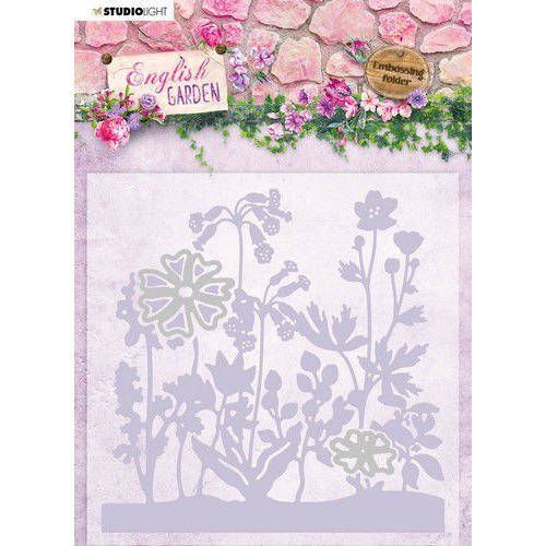 Studio Light Embossing Folder With Die Cut English Garden nr.04 EMBEG04 (01-20)