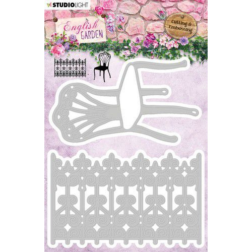 Studio Light Embossing Die English Garden nr.236 STENCILEG236 101x125mm (01-20)