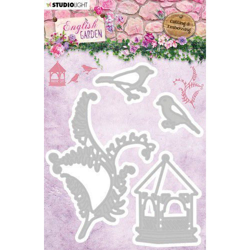 Studio Light Embossing Die English Garden nr.237 STENCILEG237 103x121 mm (01-20)