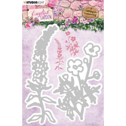 Studio Light Embossing Die English Garden nr.238 STENCILEG238 100x132 mm (01-20)