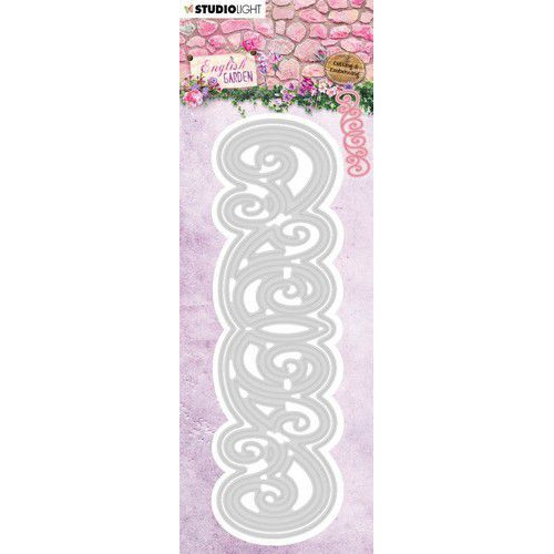 Studio Light Embossing Die English Garden nr.241 STENCILEG241 44x152 mm (01-20)