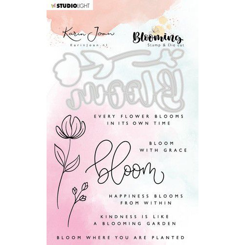 Studio Light Stamp & Die Cut A6 Karin Joan Blooming Coll.01 BASICSDCKJ01 (01-20)
