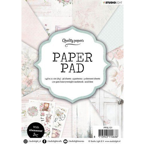 Studio Light Paper pad 36 vel Classic Pastel nr.131 PPSL131 A5 (01-20)