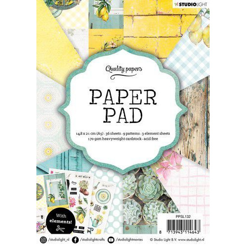 Studio Light Paper pad 36 vel Garden nr.132 PPSL132 A5 (01-20)