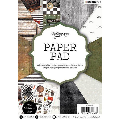 Studio Light Paper pad 36 vel Men nr.134 PPSL134 A5 (01-20)