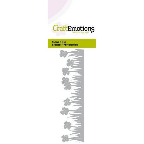 CraftEmotions Die - Grasrand klaver Card 5x10cm (01-20)