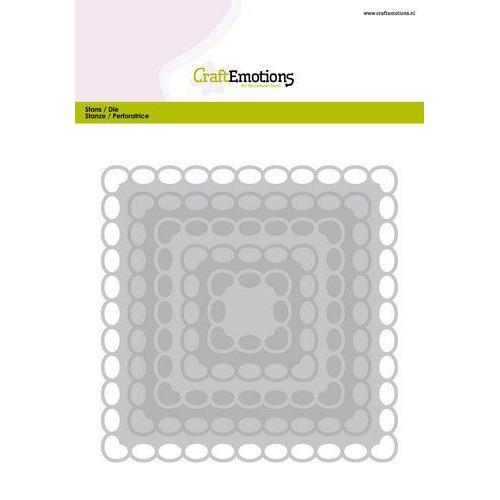 CraftEmotions Big Nesting Die - vierkanten scalop XL oval Card 150x160 6,8-15,0cm (01-20)