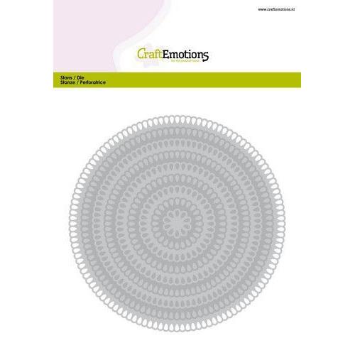 CraftEmotions Big Nesting Die - cirkels scalop XL drop Card 150x160 3,6-13,0cm (01-20)