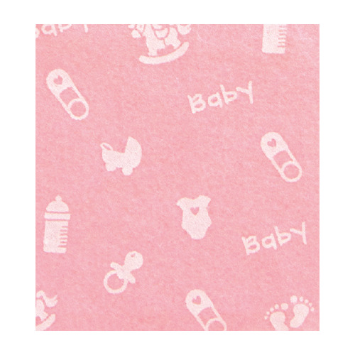 Felt baby small, Baby Pink/White