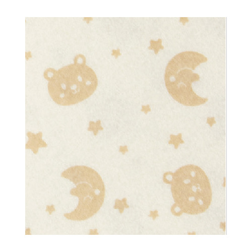 Felt bear/moon, Offwhite/Brown
