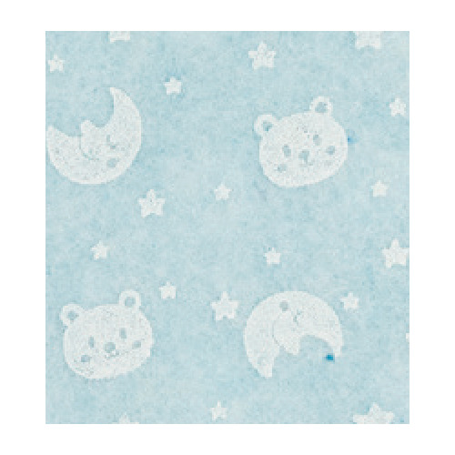 Felt bear/moon, Light Blue/White