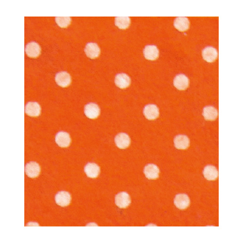 Felt dots, Orange/White