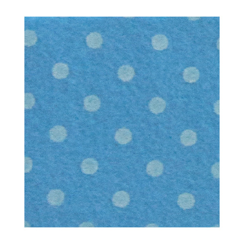 Felt dots, Dove Blue/Sand