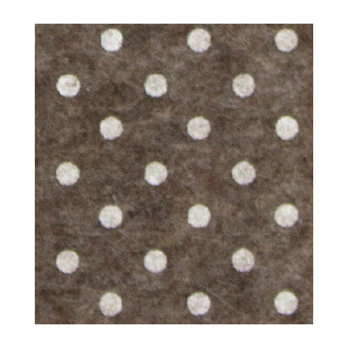 Felt dots, Brown melange/White