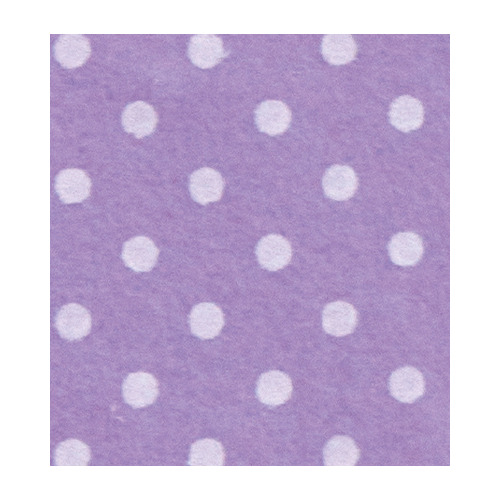 Felt dots, Wisteria/Cream